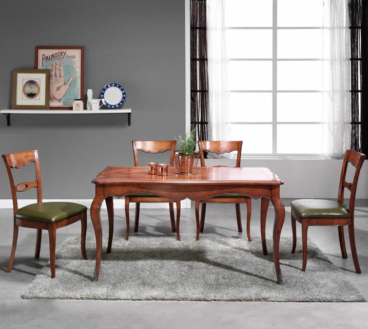 쇼콜라 프렌치 빈티지 식탁 4인세트 (의자형 / 의자4ea) / 월 75,800원