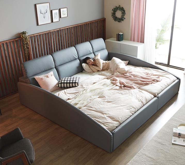 [L] 휴버트 친환경 PU 패밀리 침대 [2세대메모리폼매트리스포함 Q+SS]/ 월 119,800원