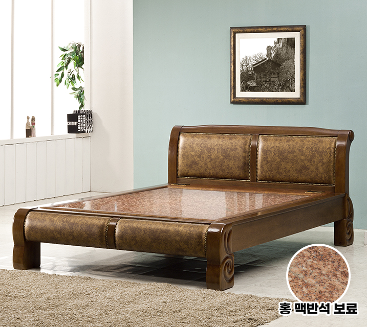 수련 Q 돌 흙침대 (홍맥반석보료) / 월 47,800원