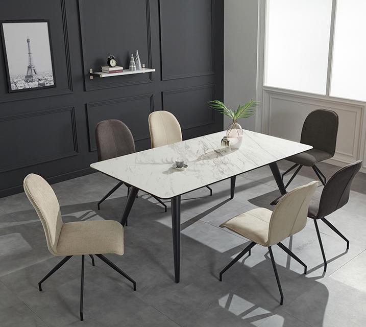 [렌탈] 로자 천연 세라믹 6인용 식탁 테이블 [의자 미포함] / 월 39,800원