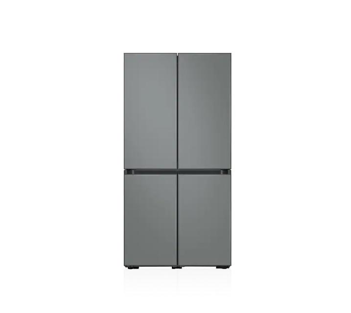 [L] 삼성 냉장고 4도어 비스포크 양문형 871L 새틴그레이 RF85T901331 / 월 58,700원