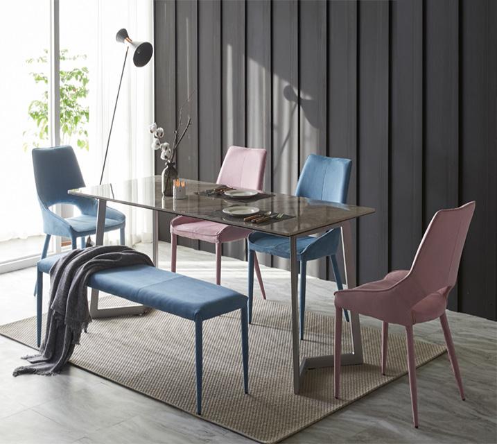 [렌탈] 빈스 세라믹 샤무드 4인 식탁세트 + 의자포함 (의자형/의자4ea) / 월 37,800원