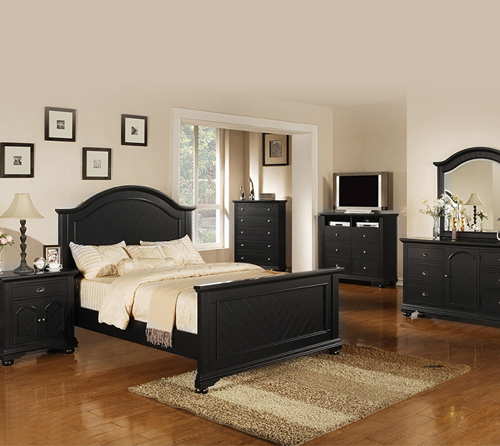 [렌탈] BP800 Brook Collection Bedroom Q Set [침대프레임+화장대+거울+협탁] / 월 65,800원