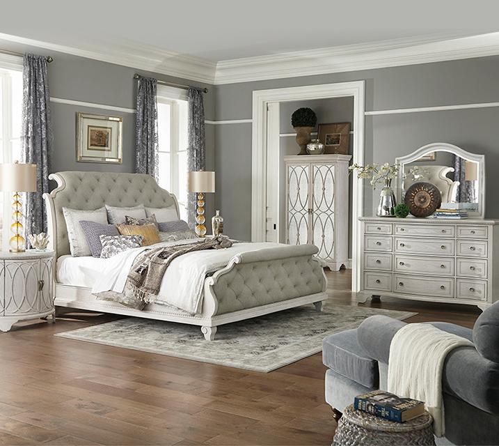 [렌탈] 790 Jasper County collection Bedroom EK Set [침대프레임+화장대+거울+협탁] / 월 163,800원