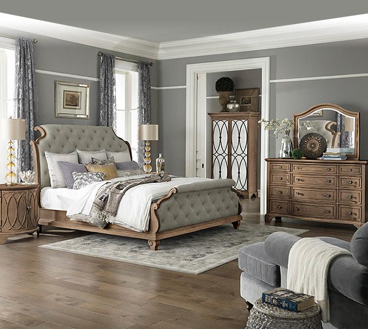 [렌탈] 791 Jasper County collection Bedroom Q Set [침대프레임+화장대+거울+협탁] / 월 153,800원