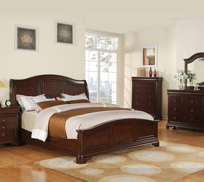[렌탈] CM-750 Cameron Sleigh Bedroom EK Set [침대프레임+화장대+거울+협탁] / 월 85,800원