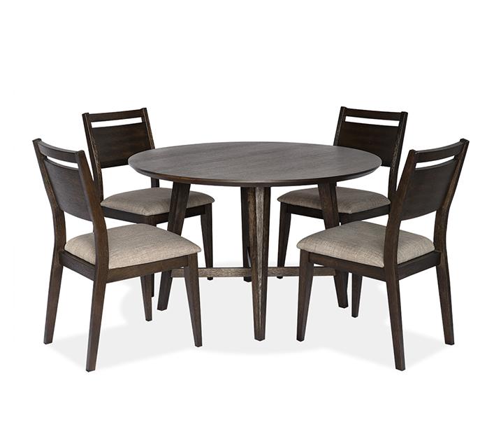 1173 라운드 4인 식탁세트 [테이블+의자 4개] - 브라운 / 월 69,800원