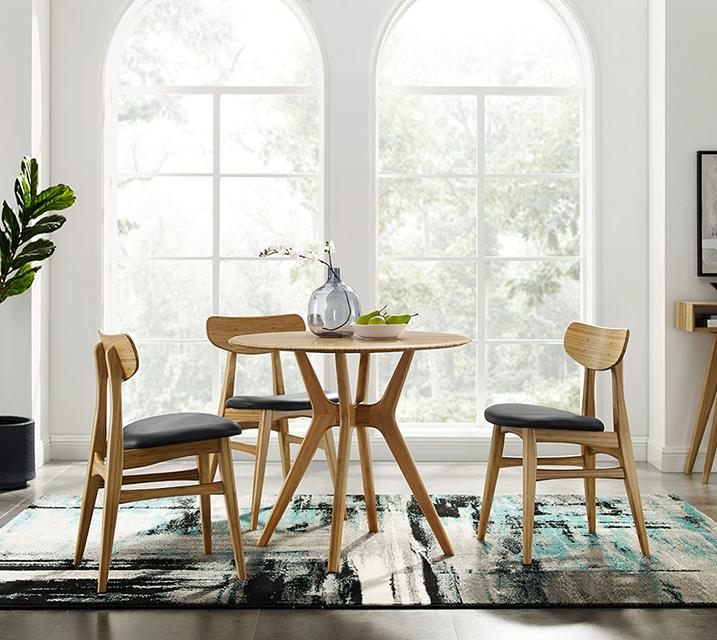 [렌탈] Sitka & Cassia collection 대나무 2인 식탁세트 [ 테이블 + 의자 2개 ] / 월 85,800원
