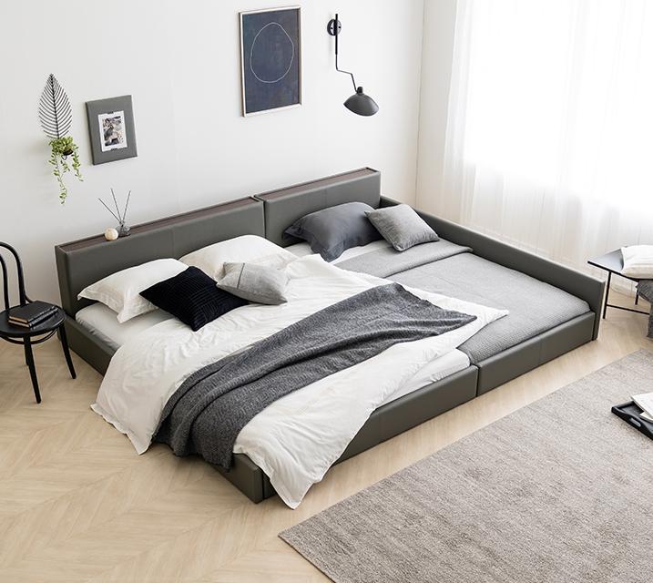 데이지 패밀리 침대 [그레이] Q+SS+PVC 깔판 / 월 25,800원