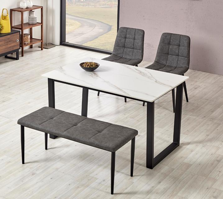 이벨린 세라믹 4인 식탁세트 + 의자/벤치포함 (벤치형/벤치1ea+의자2ea)/ 월 29,800원