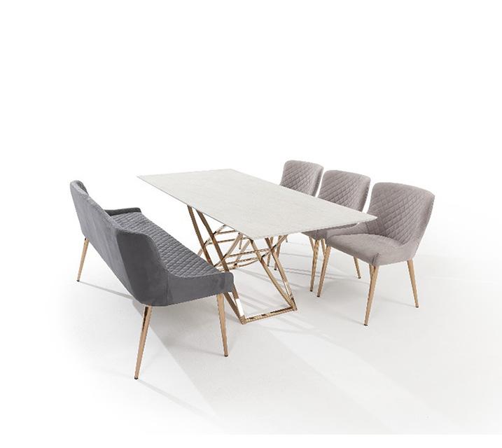 코다 세라믹 6인 식탁세트 (의자3ea, 벤치1ea) / 월 95,800원